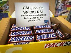 #CSU #iss ein snickers!