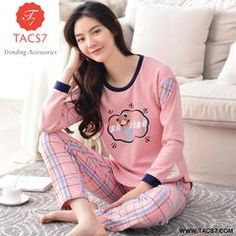 2c9922e4f2 Womens Cotton Pajamas Set Long Sleeve Nightgown Ladies Sleepwear