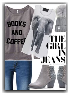 The girl in jeans by gracecar3 on Polyvore featuring polyvore, fashion, style, Norma Kamali, WithChic and clothing