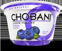 blueberry chobani this is the best 140 calories on earth i super love the strawberry i'm allergic but can magically eat this wow in love with this stuff