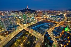 1471850. A cityscape of Seoul by night.