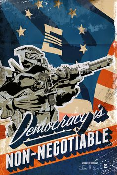 Fallout Enclave Propaganda Graphic Poster by CurledPawCreatives