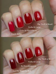 OPI Red Comparisons - Flickr Kseniya