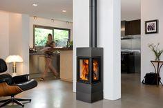 Eco 70, schitterende vrijstaande houthaard van Barbas met maar liefst 3 zijden zicht op het vuur!