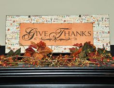 Layered Sign - Give Thanks