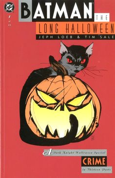 """Batman the Long Halloween: Crime - part 1 of Tim Sale (disegni), Jeph Loeb (storia), - DC 1997 Batman The Long Halloween, Halloween Books, Halloween Night, Spirit Halloween, Baby Halloween, Halloween Themes, Dc Comics, Batman Comics, Dc Comic Books"