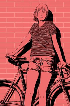 ffffixas, fixed gear bikes illustrations,... | art for adults
