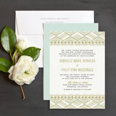 Glitzy Deco Wedding Invitation by Elli