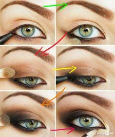 Smoky eye yeux verts