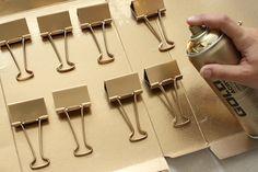 DIY Gold + Acrylic Clipboards - Step 1