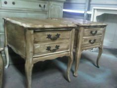 Uber distressed end tables