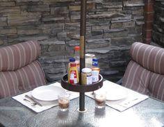 cool umbrella pole shelf