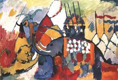 The elephant by Wassily Kandinsky