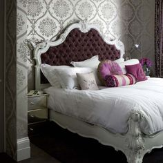 love the wall treatments and the bed!