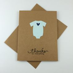 Simple, Onesie, Baby Boy, Baby Girl, Baby Shower Thank You Card, Baby Onesie, Thank You Card (SET of 5) by SimpleSwtExpressions on Etsy https://www.etsy.com/listing/219865068/simple-onesie-baby-boy-baby-girl-baby