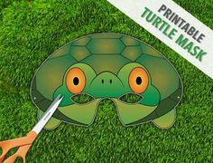 Turtle Mask  Tortoise Mask  Party Mask  Halloween by theRasilisk, $3.99
