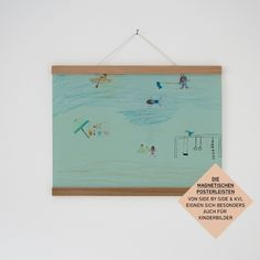 Bilderrahmen - Magnetische Posterleiste & Bilderleiste Eic... - ein Designerstück von KLEINWAREN-VON-LAUFENBERG bei DaWanda