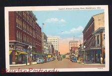MIDDLETOWN OHIO DOWNTOWN CENTRAL AVENUE STREET SCENE VINTAGE POSTCARD