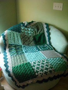 Ravenjasmine's First Sampler Crochet Sampler Afghan