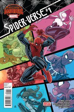 Spider-Verse #1 July 2015 https://www.facebook.com/pages/The-Nerd-Rave/113442648801172 #thenerdrave #marvel #comics #spiderverse #spiderman #secretwars #spidergwen #noir #spiderham