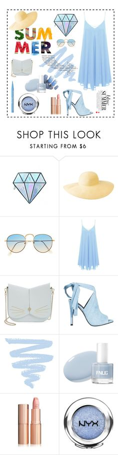 """""""summer blues🔅"""" by rakshitha ❤ liked on Polyvore featuring Unicorn Lashes, Columbia, Ted Baker, Kendall + Kylie, NYX and Too Faced Cosmetics"""