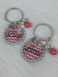 Hey, I found this really awesome Etsy listing at https://www.etsy.com/listing/165190962/big-sister-little-sister-keychains-big
