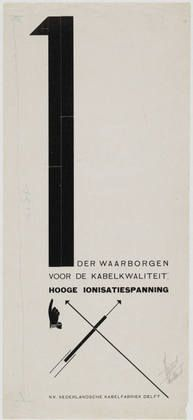 Piet Zwart - NKF (Netherlands Cable Factory) 1st rule of cable quality is Ionisation and Tension, 1925
