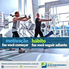 Motivação faz você começar. Hábito faz você seguir adiante!  #treino #academia #musculacao #moticacional #motivacao #fitness