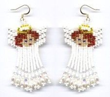 Earring Patterns : Beading Patterns and kits by Dragon! Seed Bead Jewelry, Seed Bead Earrings, Dangle Earrings, Seed Beads, Chandelier Earrings, Beaded Earrings Patterns, Beading Patterns, Loom Patterns, Bracelet Patterns