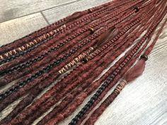 Etsy :: Your place to buy and sell all things handmade Fake Hair Extensions, Dreadlock Extensions, Ethnic Hairstyles, Dreadlock Hairstyles, Girl Hairstyles, Synthetic Dreadlocks, Synthetic Hair, Wool Dreads, How To Grow Natural Hair
