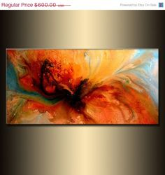 Modern Abstract Painting original Canvas art by newwaveartgallery Buy Now…