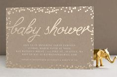 Starlight Foil-Pressed Baby Shower Invitations by Saltwater Designs at minted.com