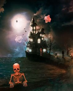 Halloween Shadow Box, Halloween Party Poster, Halloween Gif, Halloween Cartoons, Halloween Images, Halloween Patterns, Outdoor Halloween, Halloween Horror, Halloween House