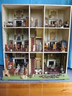 Spectacular fully fitted c1870s Three story Dolls House