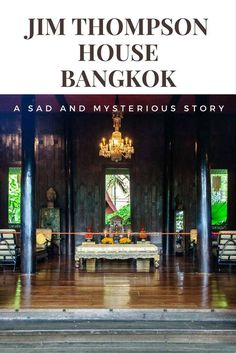 Heading to Bangkok? Then you should check out Jim Thompson House/Museum. It has a sad and mysterious story.....