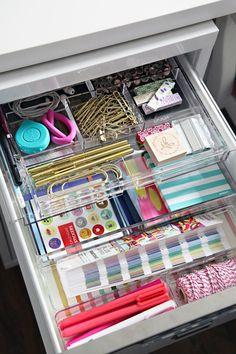 IHeart Organizing: Four Days & Four Drawers Mini Organizing Challenge: Home Office Drawer