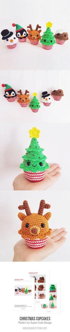 Christmas Cupcakes Amigurumi Pattern
