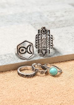 Silver Tribal Rings Set - LoveCulture.com