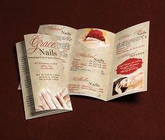 Natural Day Spa & Massage Tri Fold Brochure Template | Spa Ideas ...