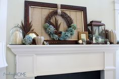 FallMantelDecorating thumb Fall Mantel Decorating   Step by Step Tips