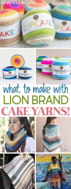 Knit and Crochet Patterns with Lion Brand Cake Yarns! & Sewrella Knit and Crochet Patterns with Lion Brand Cake Yarns! & Sewrella The post Knit and Crochet Patterns with Lion Brand Cake Yarns! & Sewrella appeared first on Home. Caron Cakes Crochet, Crochet Cake, Caron Cake Crochet Patterns, Lion Brand Mandala Yarn, Lion Brand Yarn, Loom Knitting Projects, Knitting Yarn, Knitting And Crocheting, Crochet Projects