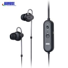 August EP720 Active Noise Cancelling Earphones with Microphone HiFi Stereo In-Ear Earbuds Rechargeable ANC Earphone for Airplane