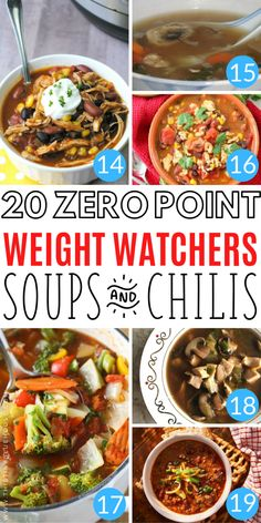 20 delicious easy and hearty zero point weight watchers soup and chili recipes you gotta try weightwatchers weightwatcherszeropointfoods weightwatcherssouprecipes zeropointweightwatchersoup zeropointweightwatchersrecipes 556898310174165679 Weight Loss Meals, Weight Loss Drinks, Weight Loss Soup, Plats Weight Watchers, Weight Watchers Soup, Weight Watchers Freezer Meals, Weight Watchers Breakfast, Clean Eating, Healthy Eating