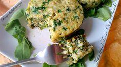 Frittata al Forno con Orzo e Rucola. La frittata è un comodo ripiego per un secondo veloce, oggi l'ho fatta al forno con orzo lesso e rucola : piatto unico!