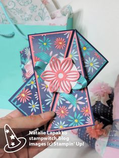 Homemade card and baby gift by Natalie Lapakko featuring Delightful Daisy DSP and May Flowers Framelits from Stampin' Up!