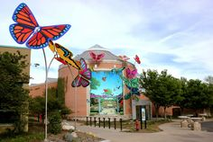 Banner Art Studio created these giant butterflies to solve a traffic problem at the Indianapolis Zoo, and guide patrons to an all-new butterfly exhibit.