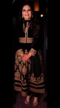 Velvet zardozi black Indian wear