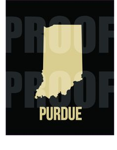 College Digital Design Poster - Purdue.  Download it on Etsy today!