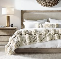 Moroccan Wedding Striped Oversized Bed Throw | Restoration Hardware (reg $649) members $486