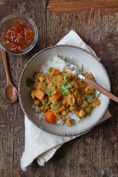 Mat på Bordet: Curry i Crock-Pot eller ikke Slow Cooker Recipes, Crockpot Recipes, Yummy Recipes, Chana Masala, Yummy Food, Crock Pot, Chicken, Baking, Ethnic Recipes